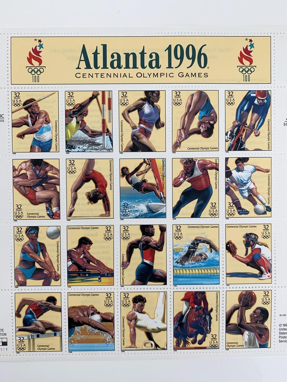 Atlanta Summer Olympics Games Sheet of Twenty 32 Cent Stamps Scott 3068 By USPS