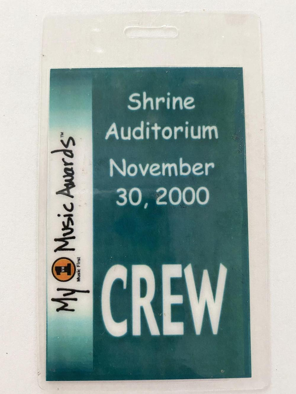 My VH1 Music Awards 2000 Backstage Pass