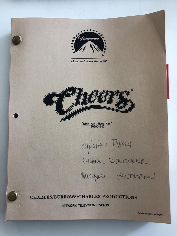 Cheers Original Script - Rich Man, Wood Man