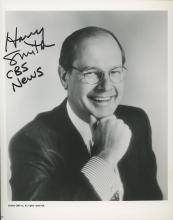 Harry Smith signed CBS photo