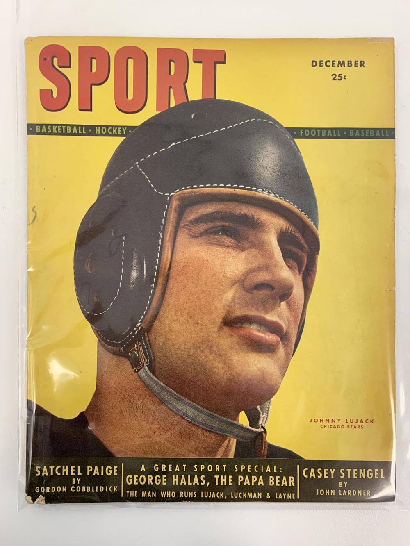 Sport Magazine December 1948 Classic Vintage Football Johnny Lujack Bears Cover