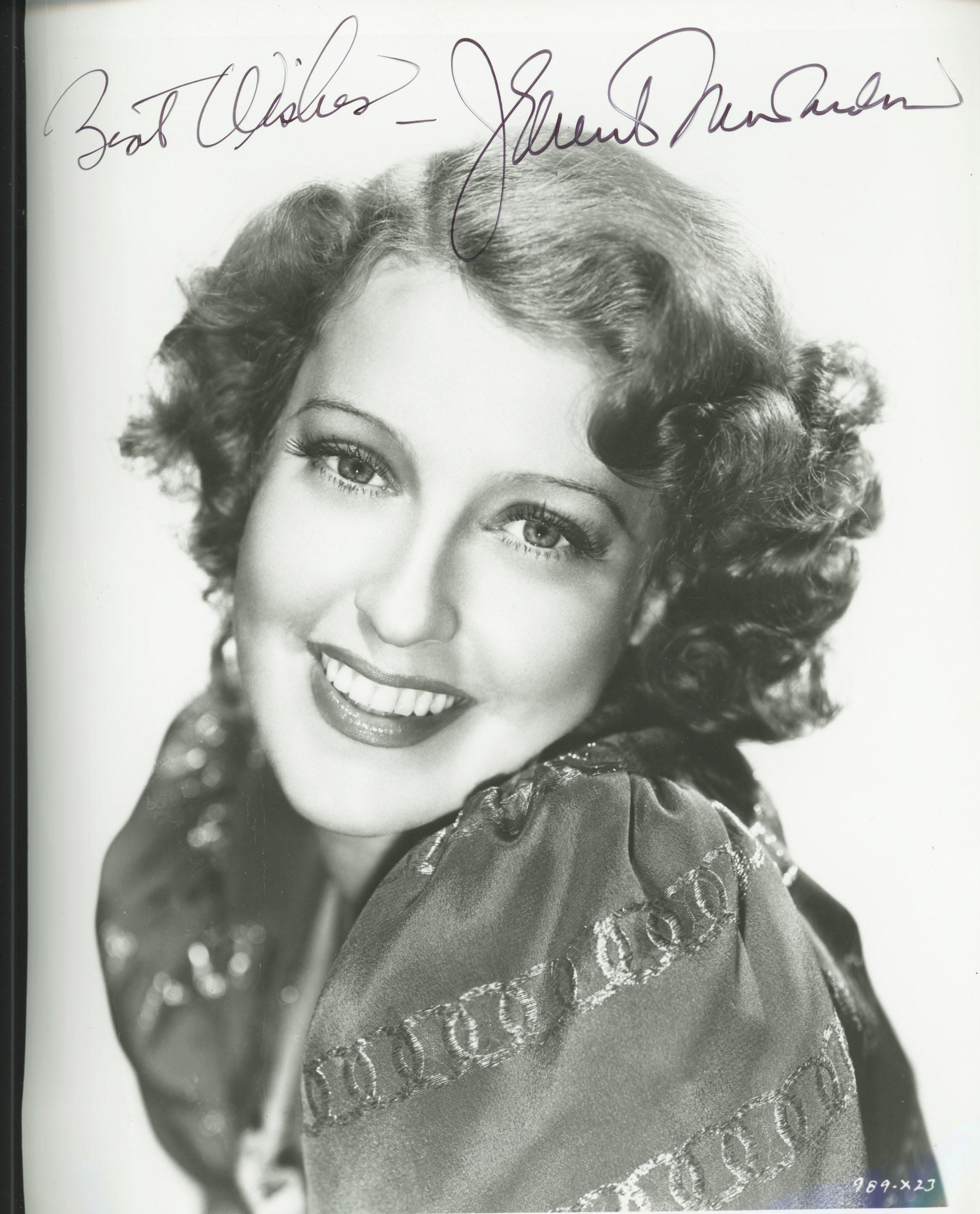 Jeanette MacDonald signed photo