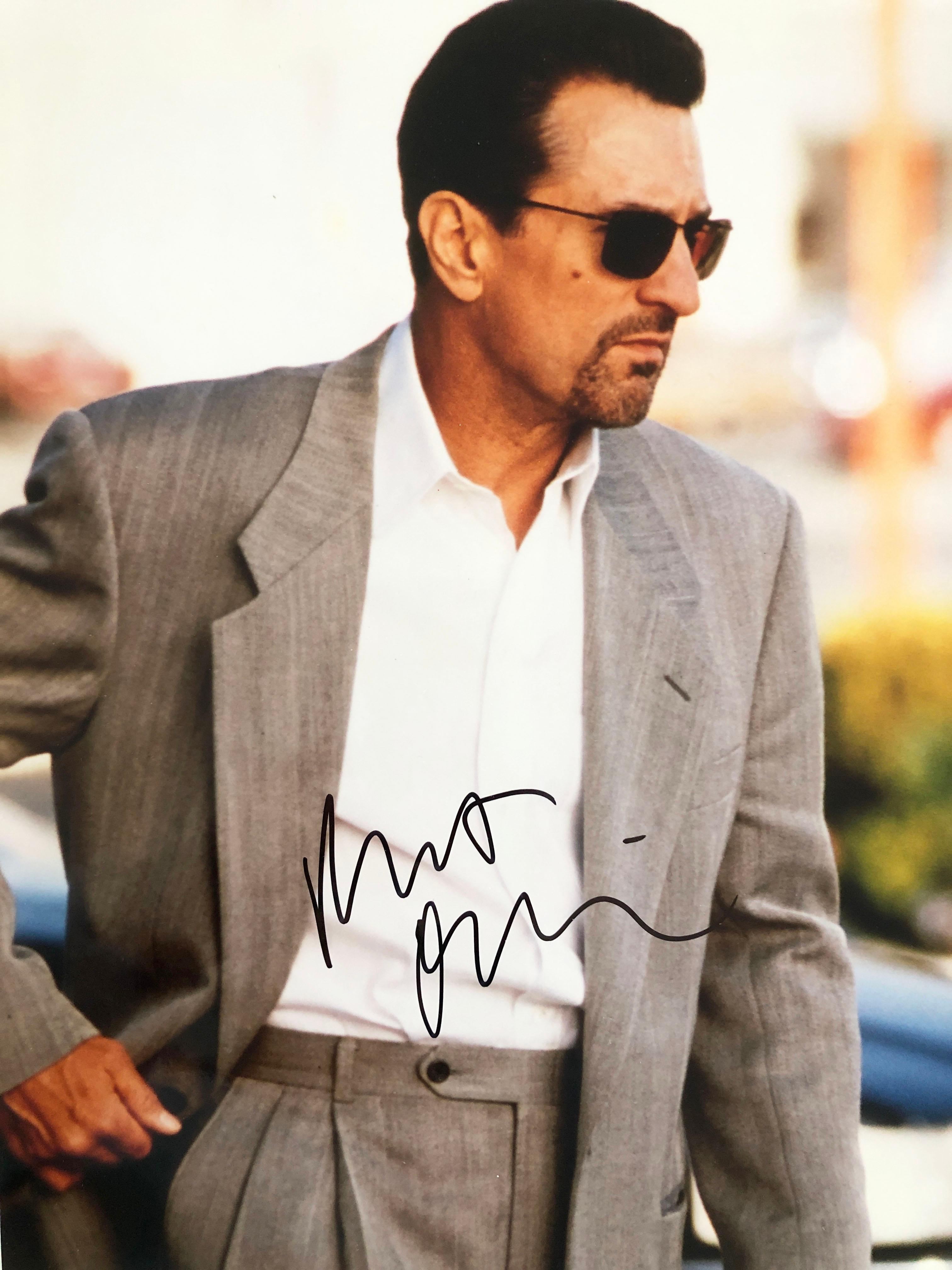 Robert De Niro signed movie photo