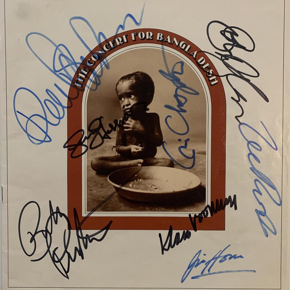 The Concert for Bangladesh signed 1971 concert book