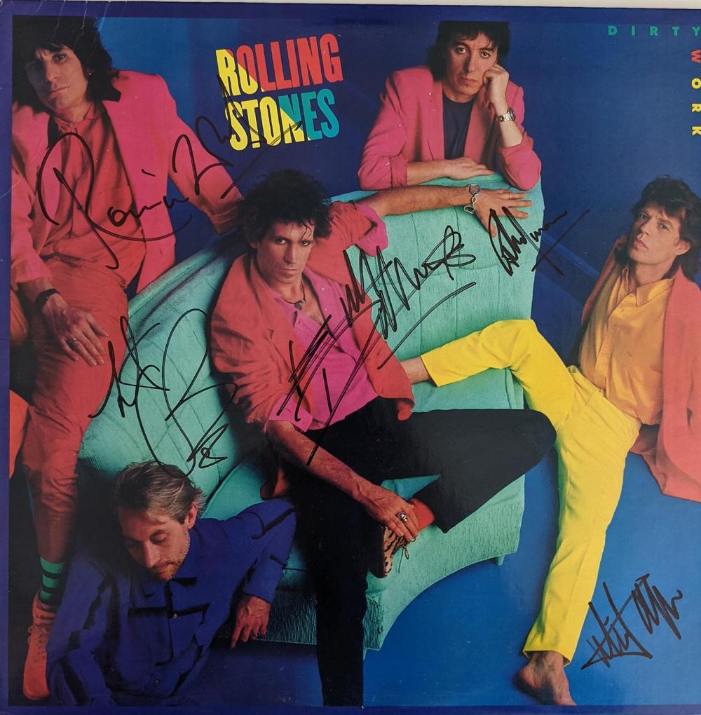 Rolling Stones Dirty Work Signed Album