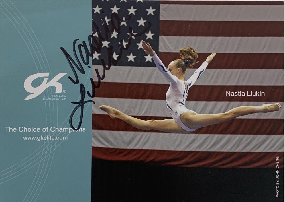 Gold medalist Nastia Liukin signed photo