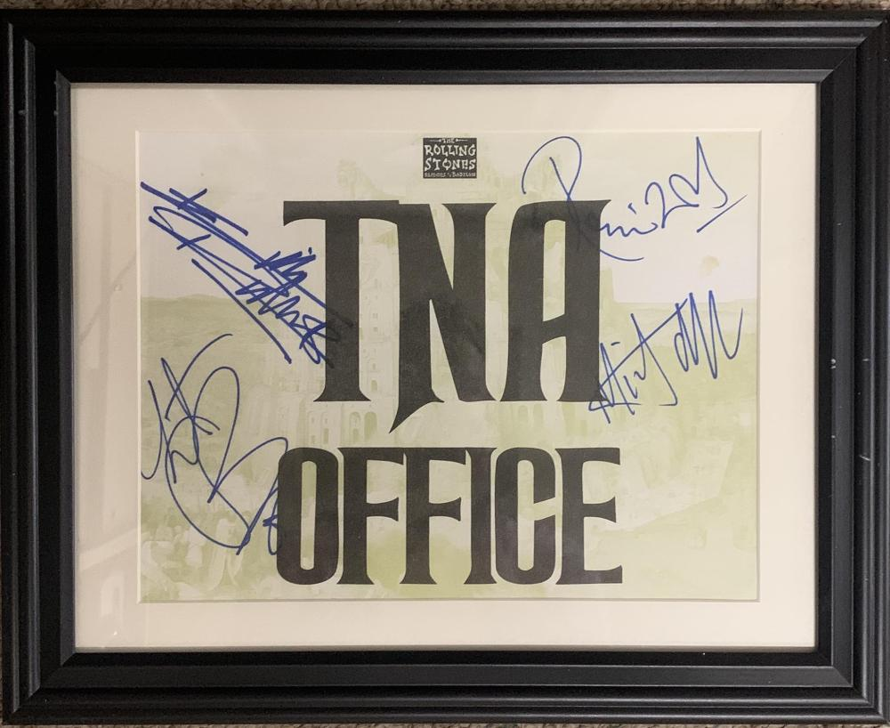 Rolling Stones framed signed photo