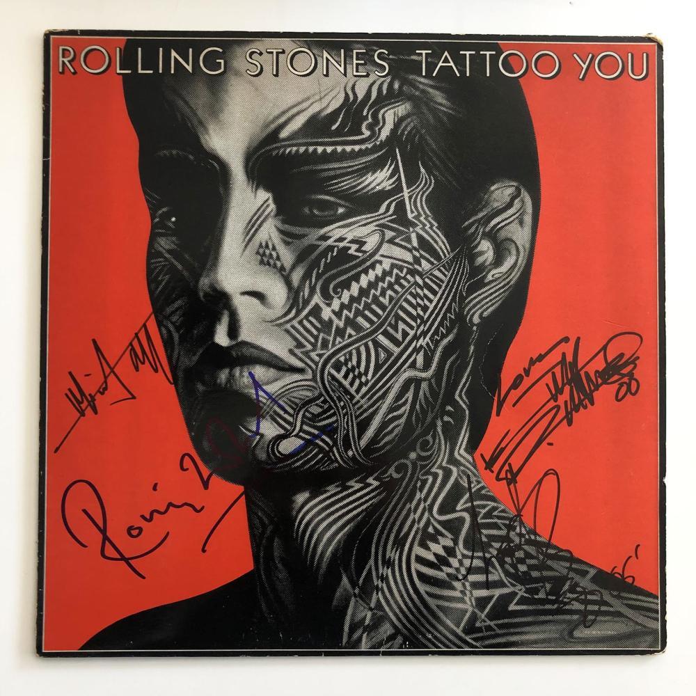 Rolling Stones Tattoo You signed album