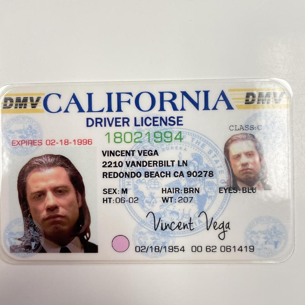 Pulp Fiction Vincent Vega ID Prop