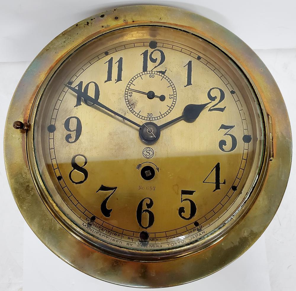Seikosha IJN 1 Week Wind Fusee Movement Fancy Dial Clock