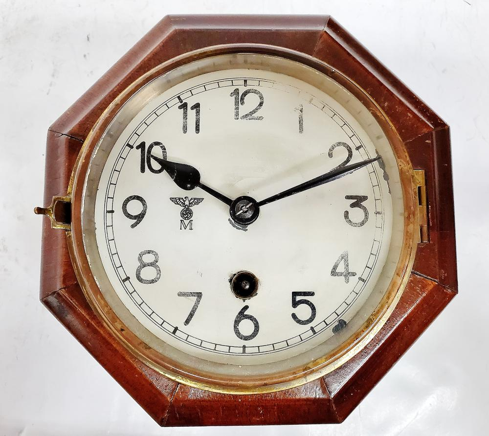 Junghans Kreigsmarine KM Octagonal Key Wind Wall Clock