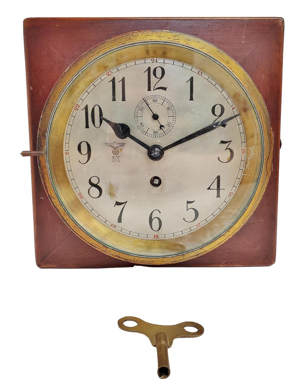 Tietz & Kiel WWII German Kriegsmarine 8 Day Movement Box Clock