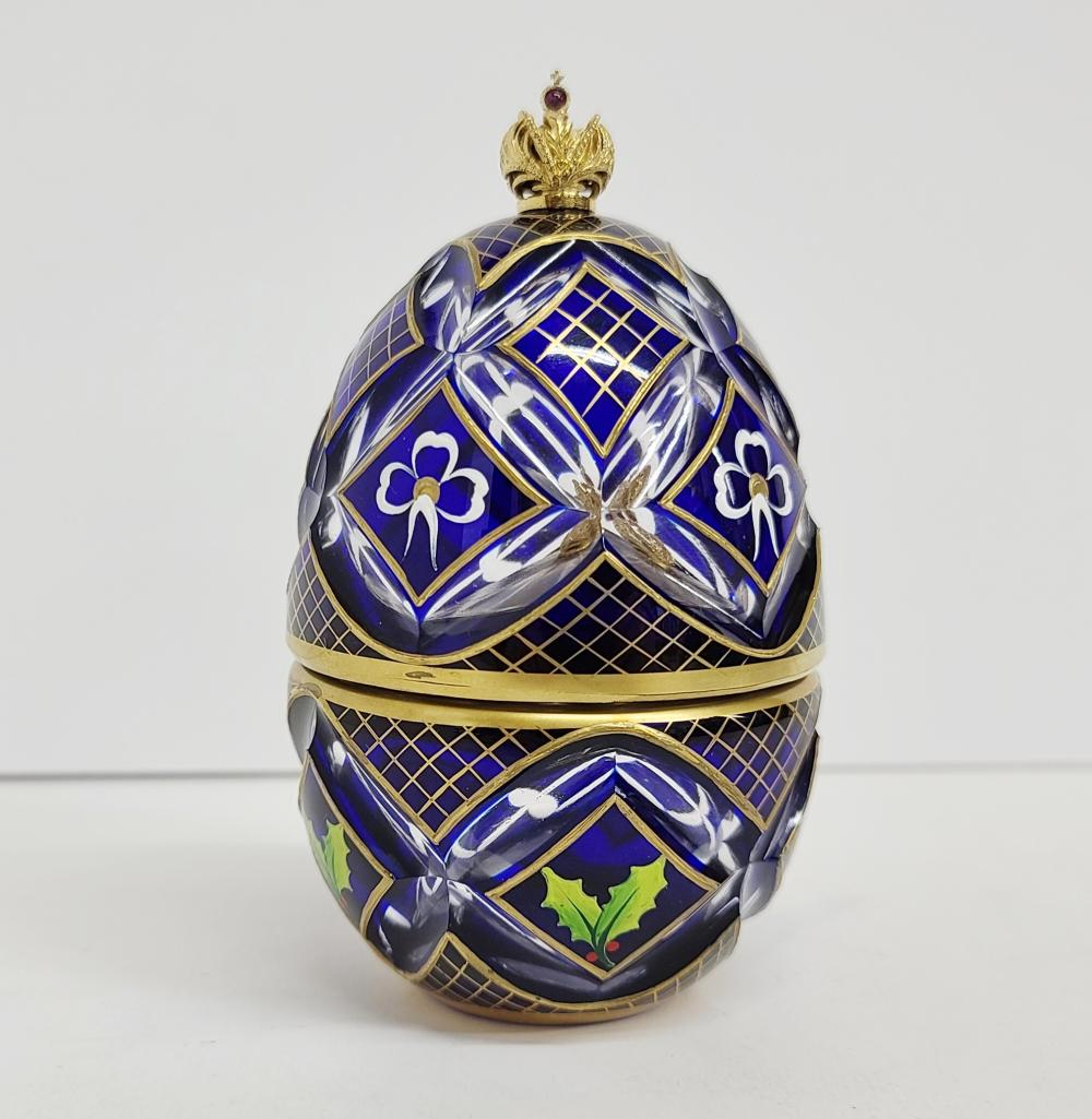Theo Fabergé Winter Egg Music Box St. Petersburg Collection
