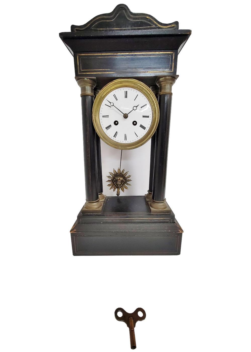 Antique Neo-Classical British French Medusa Head Pendulum Mantel Clock