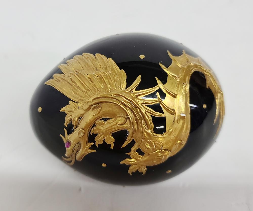 Theo Fabergé Dragon Egg St. Petersburg Collection