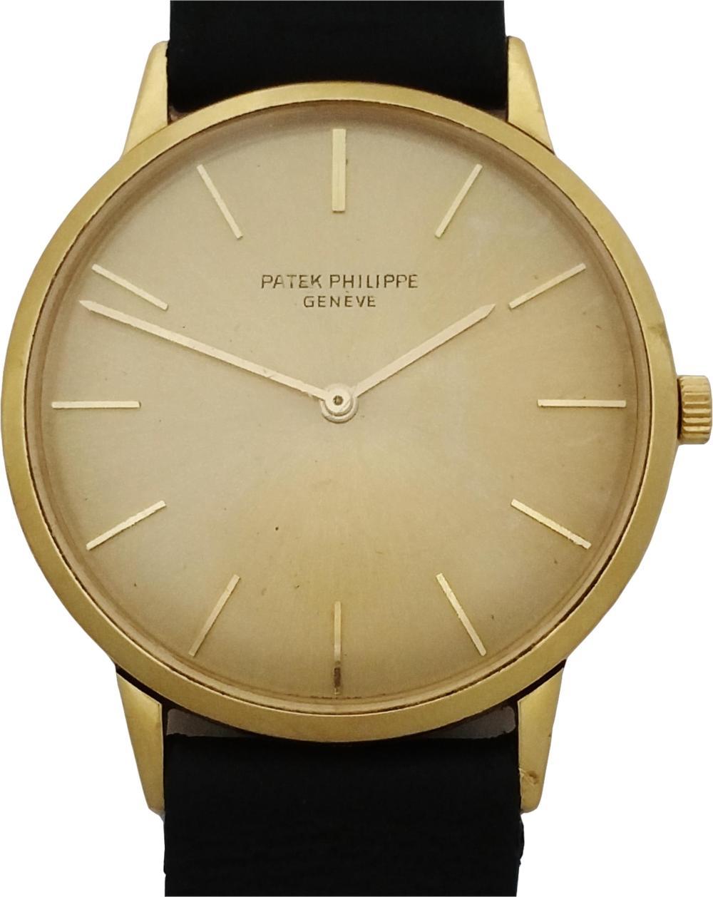 Patek Philippe Calatrava Rare Reference 3768 18k Gold Mens Vintage Watch