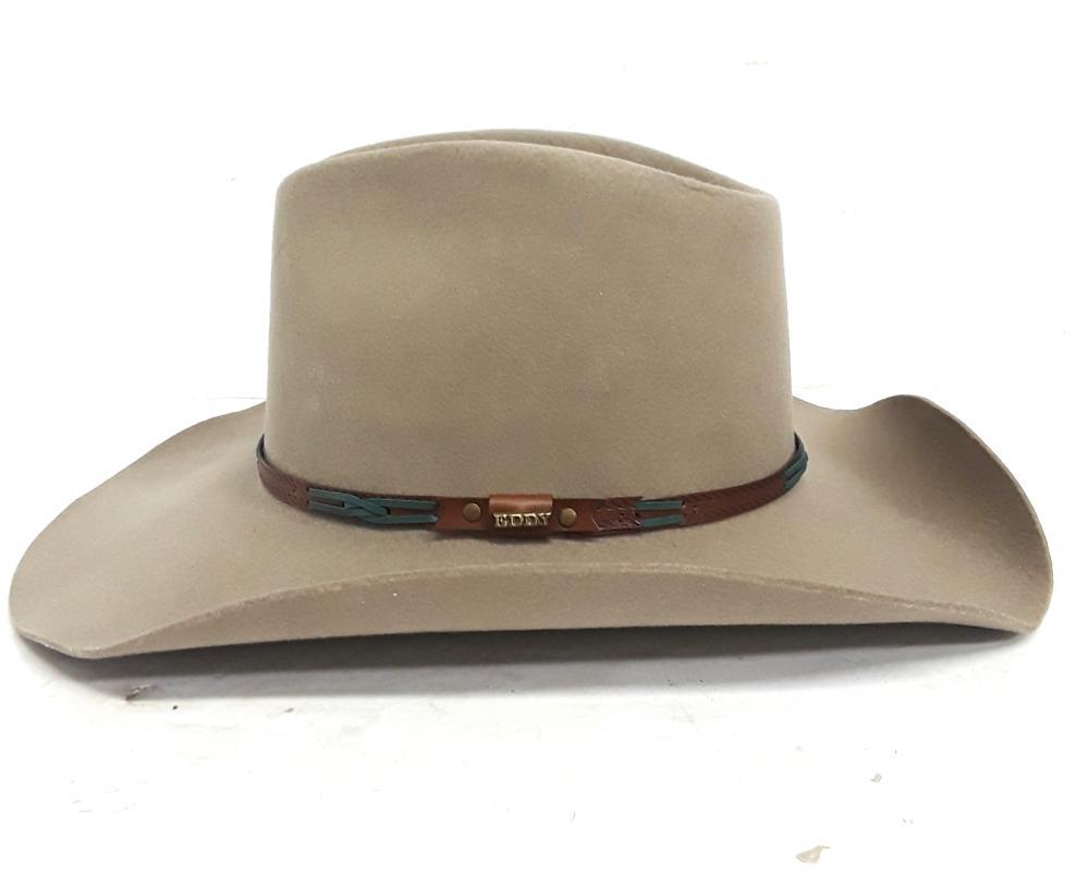 Vintage Chris Eddy Wool Tumbleweed Cowboy Hat Size 6.78