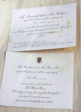Benjamin Harrison Theodoore Teddy Roosevelt White House Invitations to Binger Hermann 1890 Original