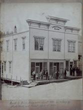 Myrtle Point Coos County Oregon 1880 Lonaconing Block Binger Hermann Building Original Photograph