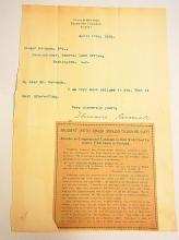 Theodore Teddy Roosevelt Signed Autographed Letter Note to Binger Hermann from State of New York Executive Chamber 1899 w Salem Portland Presidential Article
