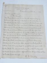 Ormsby Land Office Salem Oregon to Binger Hermann Signed 1904 Autographed Letter Referring to GOP Speech Use of Fag End Term with Corresponding Original Newspaper Article