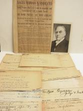 Binger Hermann Oregon Land Fraud Scandal Acquittal Lot of 12 Original Handwritten Congratulations Postal Telegraphs from Colleagues and Supporters May 2 1907 Original Newspaper Article with McKinley Photograph