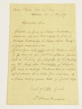 Hans Kudlich Austria Political Activist 1889  Vienna Parliament  Handwritten Autographed Signed Letter