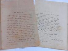 Robert Hamerling German Epic Poet Vienna Ein Schwanenlied der Romantik Author Signed Autographed Letters on Personal Stationery 1874 1881