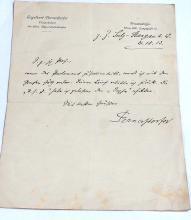 Engelbert Pernerstorfer Austrian Parliament Abgeordnetenhaus of Berlin Politician Deutsche Worte Reichsrat Journalist Signed Handwritten Note Autographed 1913 Letter Pernerstorfergasse