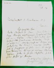 Max Halbe German Author Munich Intimate Theater Munich Volksbuhne Naturalism Handwritten Signed Autographed Letter 1899