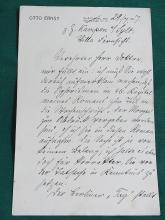 Otto Ernst Schmidt German Poet Author Der Viewer Hamburg Literary Society Kampen Sylt Signed Autographed Letter