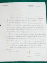 Thomas Mann Nobel Prize Winner Author Extremely Scarce Signed Letter to Siegfried Loewy 1928 Commentary German Buddenbrooks Death in Venice Joseph and His Brothers Writer