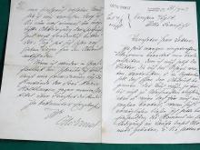 Otto Ernst Schmidt Poet Author Der Viewer Hamburg German Literary Society Kampen Sylt Signed Autographed Letter Lot 2
