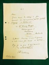 Louis Ferdinand Auguste Destouches Céline French Novelist France Writer Journey to the End of the Night Signed Autographed Handwritten Paris Letter