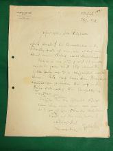 Franz Lehár The Merry Widow Operetta Composer Das Land des Läches Signed Autographed Hand Written Letter