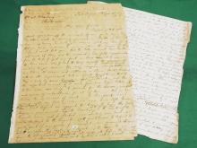 Binger Hermann Fathers Letter to William Marburg Marbury Baltimore 1859 About Settling in Port Orford in 1859 Also Discussing Politics Slavery Africa Mining Handwritten Fascinating 6 Page Correspondence Coquille Valley Oregon