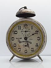 Nazi Wewelsburg Germany WWII Third Reich Eagle Swastika SS Large Running Alarm Clock