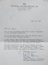 Rare Paul Muni Hungarian Yiddish Actor National Immigration Refugee New York 1943 WWII Era Signed Letter