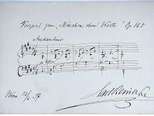 Carl Reinecke Denmark Composer Violinist Piano Concerto Conducter Hand Written Rare Original Sheet Music