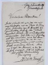 Rare Wilhelm Kienzl Austrian Opera Composer Musician Conductor 1890s Hand Written Signed Vereholoche Letter with Provenance