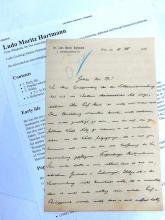Ludo Moritz Hartmann Austrian Historian Politician Diplomat 1896 Original Letter