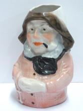 Antique Porcelain Sea Captain Signed Creamer Fisherman Bavarian Cream Pitcher 4 x 5 inches