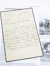 Ludwig Koch Artist Vienna Sculptor Horse Illustrator Austrian Military History Painter Hand Written Signed Letter