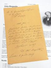 Otto Roquette Author Epic Verse 19th Century Historian Berlin Germany Teacher Hand Written Autograph Signed 1869 Letter