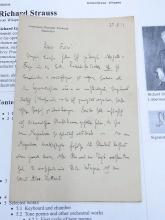 Richard Strauss German Composer Der Rosenkavalier Four Last Songs Austrian Conductor Hand Written Romantic Era Signed 1919 Letter
