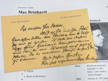 Max Reinhardt Austrian Theatre German Director Salzburg Festival Producer Hand Written Autograph Signed Letter