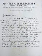 Julius Meier Graefe German Art Critic  Impressionism Art Nouveau Novelist  Spanische Reise Hand Written Autograph Signed Letter