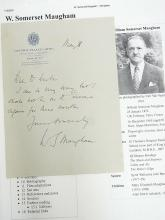 William Somerset Maugham British Playwright Novelist Author Lisa of Lambeth Hand Written Note Victoria Palace Hotel Paris France Signed Autograph Letter