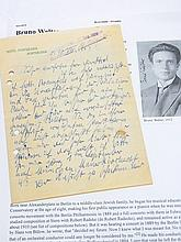 Rare Bruno Walter German Conductor Pianist Composer Bavarian Hamburg Cologne Vienna Opera 1925 Rare Letter  from Hotel Pontresina Hand Written Signed Autograph Note