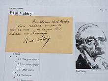 Paul Valery French Philosopher Poet Nobel Prize Literature Nominee 40 Rue de Villejust Paper Hand Written Signed Note